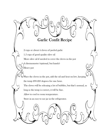 Garlic Confict Recipe